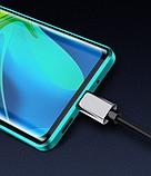 Магнітний метал чохол FULL GLASS 360° для Xiaomi Mi Note 10 Lite /, фото 8
