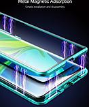Магнітний метал чохол FULL GLASS 360° для Xiaomi Mi Note 10 Lite /, фото 10