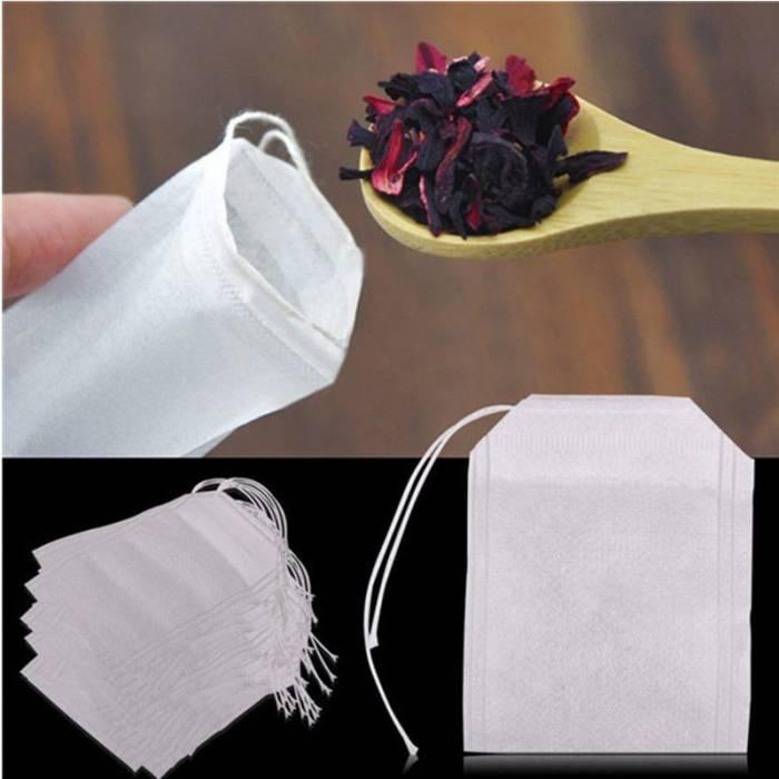 Чайные пакетики с ниточкой 100шт