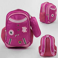 Рюкзак школьный С 43513 (50) 1 отделение, 4 кармана, мягкая спинка, пенал, в пакете