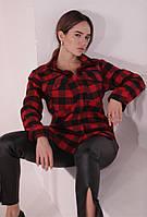 Рубашка женская в клетку 46-48 размер