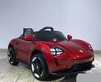 Детский электромобиль Porsche Sport mini 7188 бордовая с EVA колесами