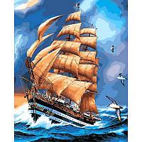 Картина рисование по номерам Babylon Парусник 2 40х50см VP477 набор для росписи, краски, кисти, холст