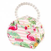 Шкатулка-сумка для украшений Фламинго, фото 1