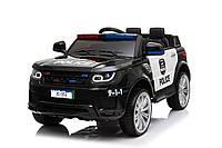 Детский электромобиль Rivertoys Range Rover Police (черный цвет) с пультом радиоуправления Bluetooth 2.4G