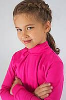 Детский нарядный гольф для девочки (малиновый)