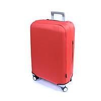 Текстильный чехол для малых чемоданов на 4-х колесах Coverbag красный, фото 1