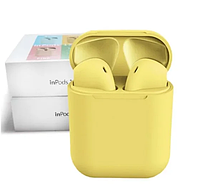 Беспроводные сенсорные наушники inPods TWS i12 цветные желтые
