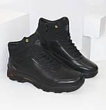Зимние мужские спортивные ботинки черного цвета Q SHOES, фото 2