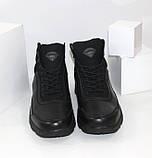 Зимние мужские спортивные ботинки черного цвета Q SHOES, фото 4