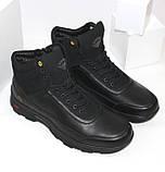 Зимние мужские спортивные ботинки черного цвета Q SHOES, фото 5