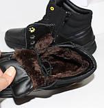 Зимние мужские спортивные ботинки черного цвета Q SHOES, фото 8
