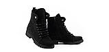 Стильные женские зимние замшевые ботинки черные-матовые Vikont, фото 2