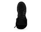 Стильные женские зимние замшевые ботинки черные-матовые Vikont, фото 7