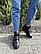 Женские ботинки кожаные зимние черные Yuves, фото 2