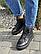 Женские ботинки кожаные зимние черные Yuves, фото 3