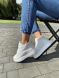 Женские ботинки кожаные зимние белые Yuves, фото 3