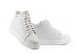 Женские ботинки кожаные зимние белые Yuves, фото 4
