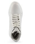 Женские ботинки кожаные зимние белые Yuves, фото 5