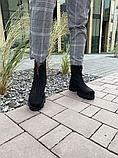 Ботинки женские кожаные черные-матовые Topas Casual, фото 2