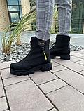 Ботинки женские кожаные черные-матовые Topas Casual, фото 3
