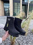 Ботинки женские кожаные черные-матовые Topas Casual, фото 4
