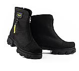 Ботинки женские кожаные черные-матовые Topas Casual, фото 5