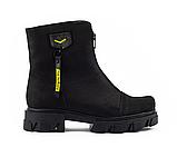 Ботинки женские кожаные черные-матовые Topas Casual, фото 6