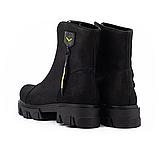 Ботинки женские кожаные черные-матовые Topas Casual, фото 7
