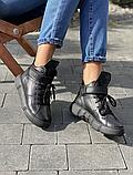 Женские ботинки зимние черные Road-style кожа, фото 2