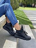 Женские ботинки зимние черные Road-style кожа, фото 3