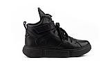 Женские ботинки зимние черные Road-style кожа, фото 4