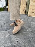 Женские ботинки замшевые зимние коричневые Polin, фото 2