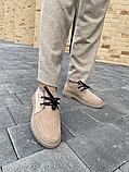 Женские ботинки замшевые зимние коричневые Polin, фото 3
