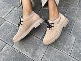 Женские ботинки замшевые зимние коричневые Polin, фото 4
