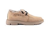 Женские ботинки замшевые зимние коричневые Polin, фото 6