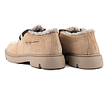 Женские ботинки замшевые зимние коричневые Polin, фото 7