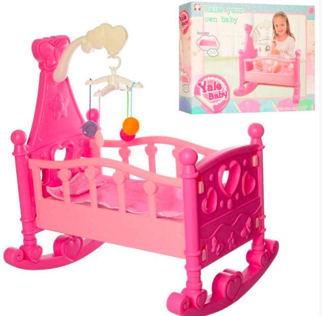 Кроватка для кукол с мобилем Yale Baby