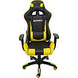 Кресло геймерское Bonro 2018 желтое, фото 2