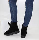 Женские зимние замшевые ботинки на шнурках и молнии, фото 2