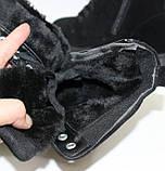 Женские зимние замшевые ботинки на шнурках и молнии, фото 10