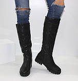 Женские зимние сапоги на низком каблуке, фото 2