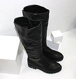 Женские зимние сапоги на низком каблуке, фото 5