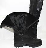 Женские зимние сапоги на низком каблуке, фото 10