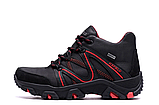 Мужские зимние кожаные ботинки IceField Gore-Tex Black реплика, фото 3