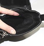 Демисезонные женские ботинки черные из натуральной замши на молнии на фасаде, фото 7