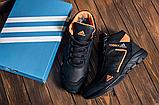 Ботинки зимние мужские кожаные  Adidas TERREX Black Orang (реплика), фото 4