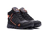 Ботинки зимние мужские кожаные  Adidas TERREX Black Orang (реплика), фото 5
