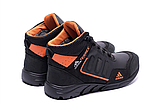Ботинки зимние мужские кожаные  Adidas TERREX Black Orang (реплика), фото 6