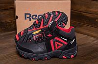 Ботинки зимние мужские кожаные Reebok Crossfit Red (реплика)